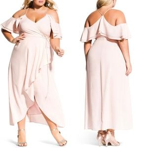 NEW City Chic | Miss Jessica Maxi Ballet Pink 14